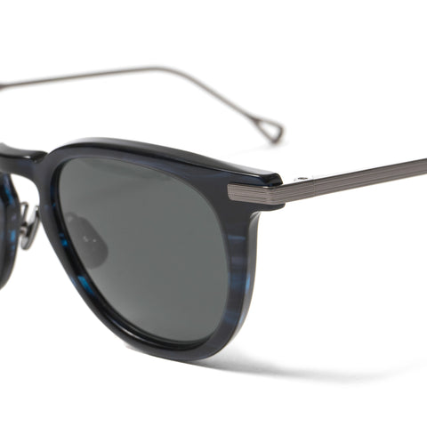 Native Sons Hughes Sunglasses, INDIGO/ BLACK PALLADIUM/ SOLID GRAY
