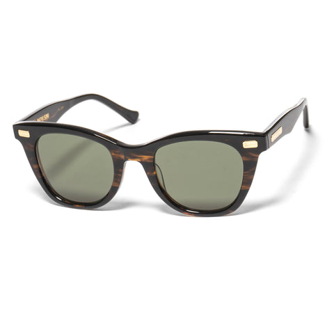 "native sons ""Mojave"" Sunglasses Gasoline/18K Gold /G-15"
