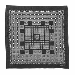 needles Bandana Geometric Square Charcoal