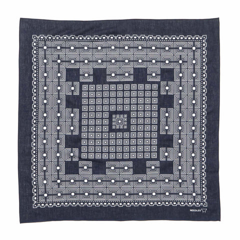 needles Bandana Geometric Square Navy