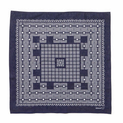 Bandana Geometric Square Purple