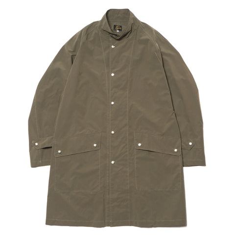 Needles Banded Collar Coat PE/N Ripstop Olive