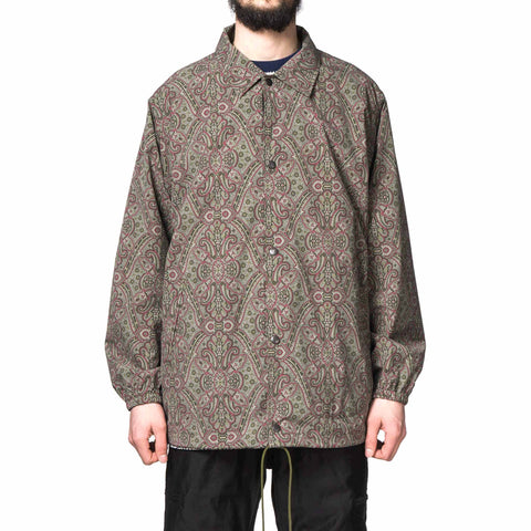 Needles Coach Jacket Poly Taffeta/Paisley Print Olive