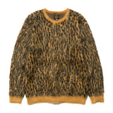 needles Mohair Sweater Leopard Gold