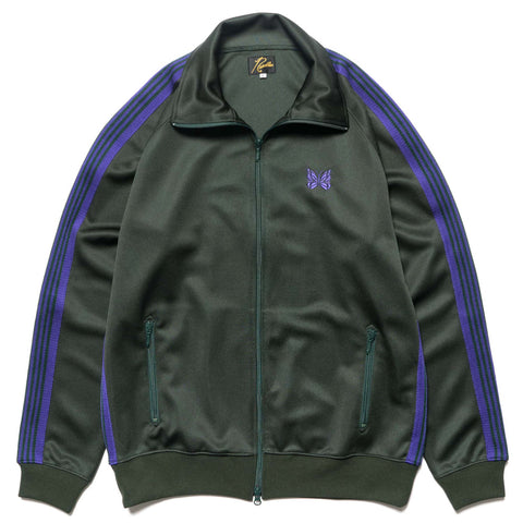 needles Track Jacket Poly Smooth Green