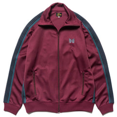 needles Track Jacket Poly Smooth Maroon