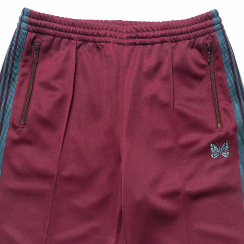 needles Track Pant Poly Smooth Maroon
