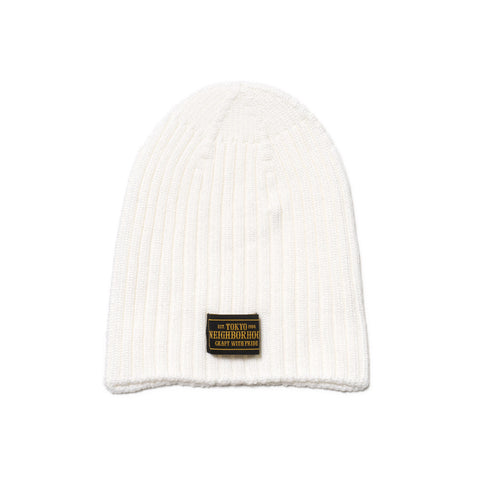 NEIGHBORHOOD Beanie / AW-Cap White