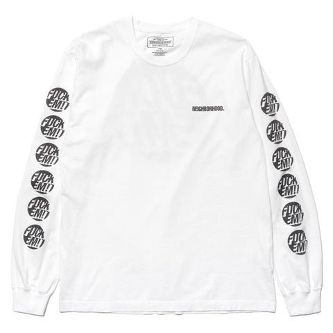 NEIGHBORHOOD EM / C-Tee . LS White/Black