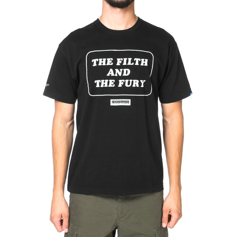 NEIGHBORHOOD Filth & Fury / C-Tee . SS Black