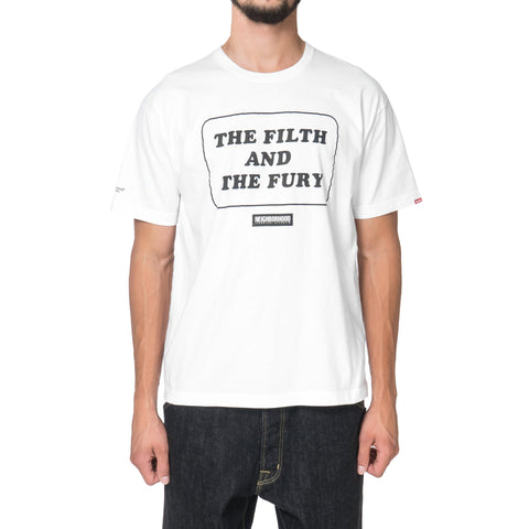 NEIGHBORHOOD Filth & Fury / C-Tee . SS White