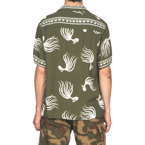 NEIGHBORHOOD OTHA Fish . Aloha / R-Shirt . SS Green