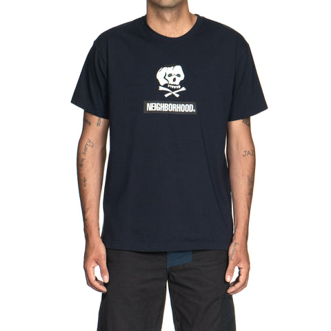 NEIGHBORHOOD Skull and Bones / C-Tee . SS Navy
