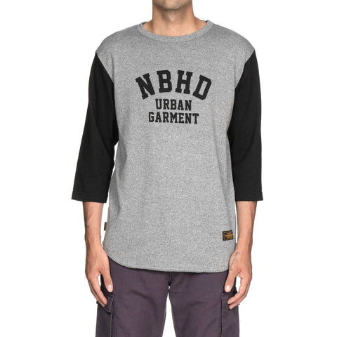 NEIGHBORHOOD Top . Sleeve / CE-Crew . 3Q Black