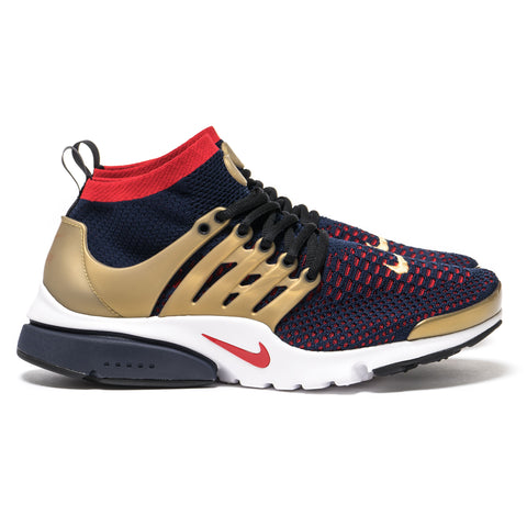 Nike Air Presto Ultra Flyknit College Navy/Comet Red-Metallic Gold