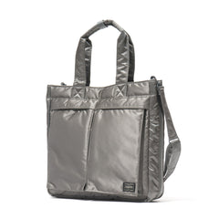 PORTER Tanker 2Way Tote Bag Silver Gray