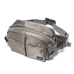 PORTER Tanker 2Way Waist Bag Silver Gray