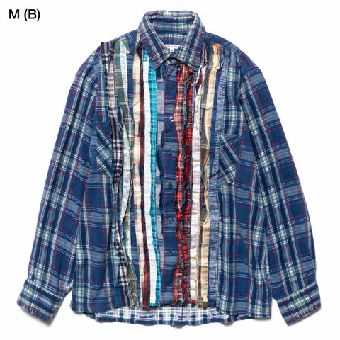 needles Rebuild by Needles Flannel Shirt Ribbon Shirt