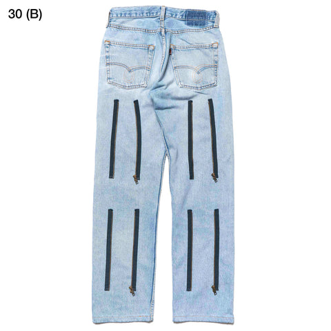 Rebuild by Needles #501 Zipper Pant Blue