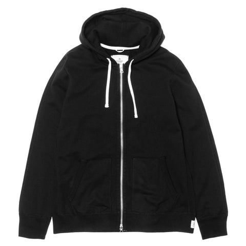 Reigning Champ Core Midweight Terry Full Zip Hoodie Black