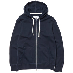 Reigning Champ Core Midweight Terry Full Zip Hoodie Navy