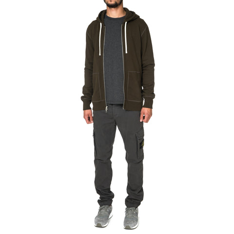 Reigning Champ Core Midweight Terry Full Zip Hoodie Olive