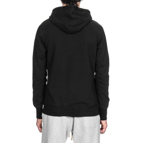 Reigning Champ Core Midweight Terry Pullover Hoodie Black