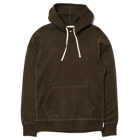 Core Midweight Terry Pull Over Hoodie Olive