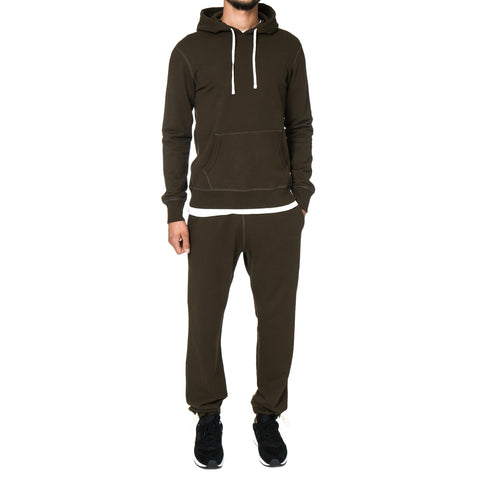 Reigning Champ Core Midweight Terry Pull Over Hoodie Olive