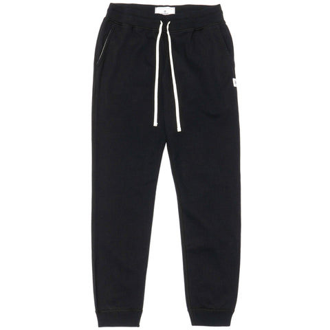 Reigning Champ Core Midweight Terry Slim Sweatpant Black