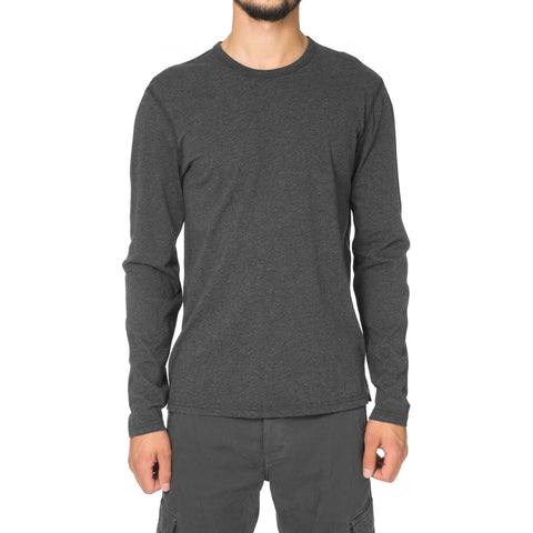 Reigning Champ Cotton Jersey LS Crewneck H.Charcoal