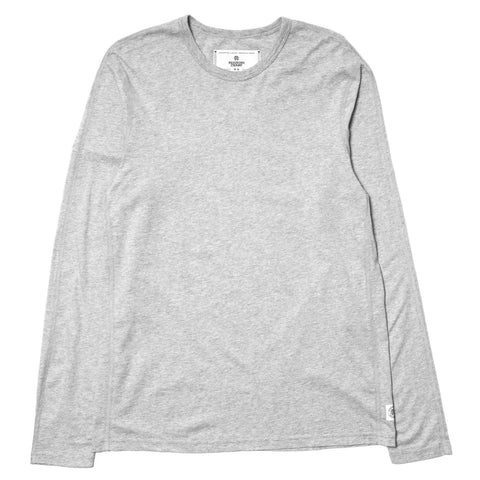 Reigning Champ Cotton Jersey LS Crewneck H.Grey