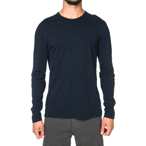 Reigning Champ Cotton Jersey LS Crewneck Navy