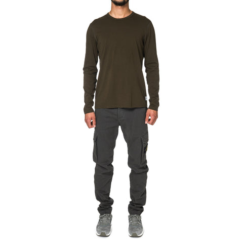 Reigning Champ Cotton Jersey LS Crewneck Olive