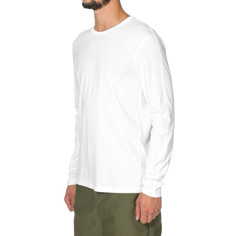 Reigning Champ Cotton Jersey LS Crewneck White