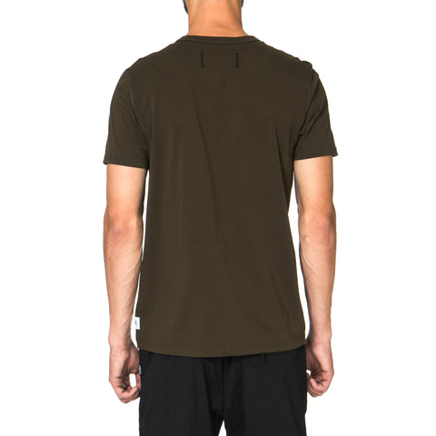 Reigning Champ Core Cotton Jersey SS Crewneck Tee Olive