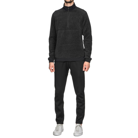 reigning champ Knit Polartec Fleece Half Zip Pullover Charcoal