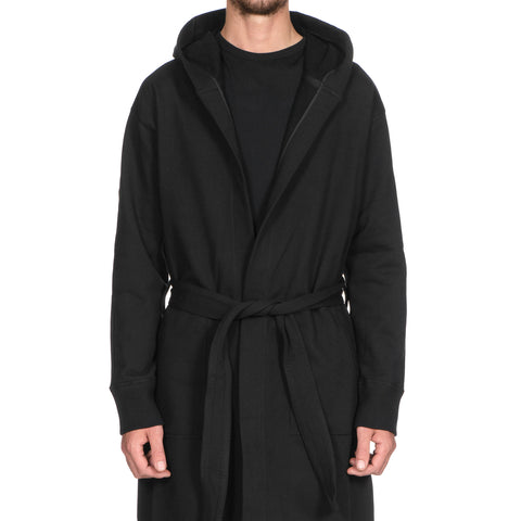 Reigning Champ Midweight Terry Hooded Robe Black