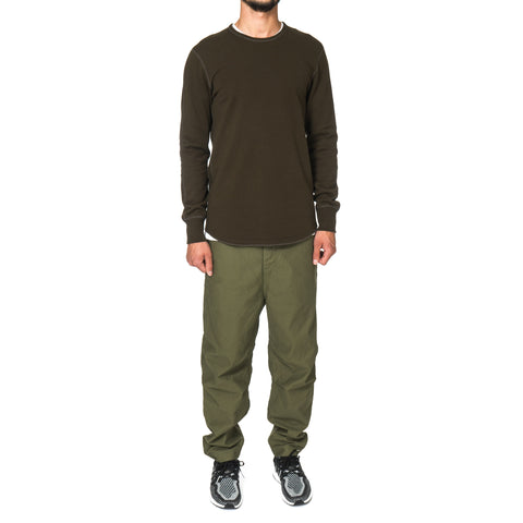Reigning Champ Midweight Terry Scalloped LS Crewneck Olive