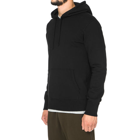Reigning Champ Midweight Terry Side Zip Pullover Hoodie Black