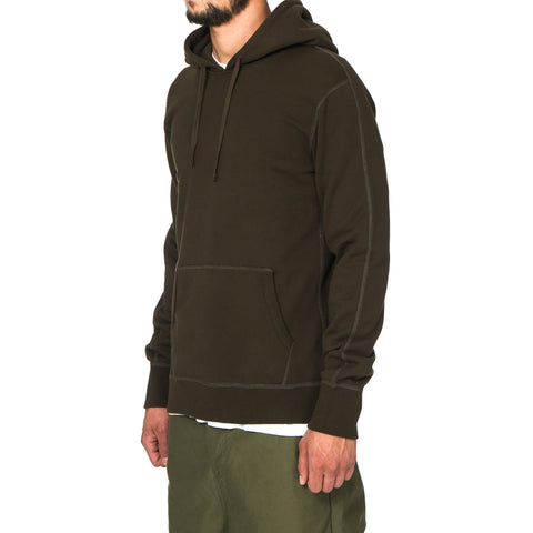 Reigning Champ Midweight Terry Side Zip Pullover Hoodie Olive