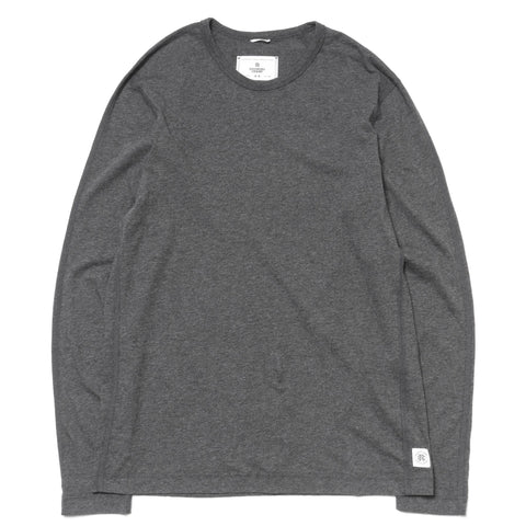 reigning champ Ringspun Jersey Set-In Tee LS h.charcoal