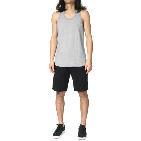 reigning champ Ringspun Jersey Scalloped Tank Top Heather Gray