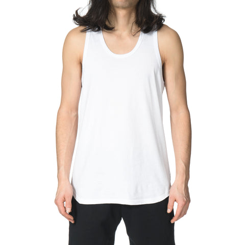 Reigning champ Ringspun Jersey Scalloped Tank Top White
