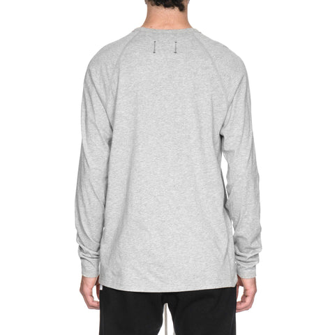 Reigning Champ Ringspun Jersey Set-In Tee LS H. Gray
