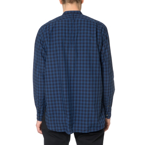SOPHNET. Indigo Type Writer Band Collar Long Shirt