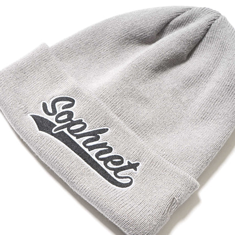 SOPHNET. New Era Tail Logo Knit Cap Gray