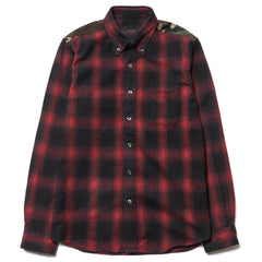 SOPHNET Ombre Check Panel B.D Shirt (Camouflage Panel)