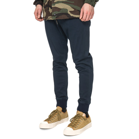 SOPHNET. Stretch Cotton Ribbed 2 Tuck Pant Navy