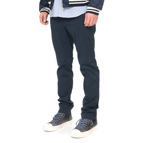 SOPHNET. Stretch Cotton Slim Fit Pant Navy